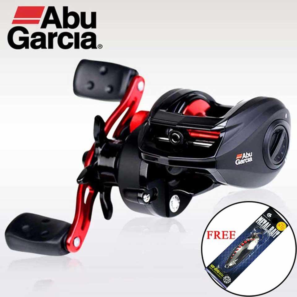 Bobine de pêche à bobine en aluminium droite/gauche Abu Garcia noir Max profil bas BMAX3 bobine de pêche à bobine en aluminium 8 kg
