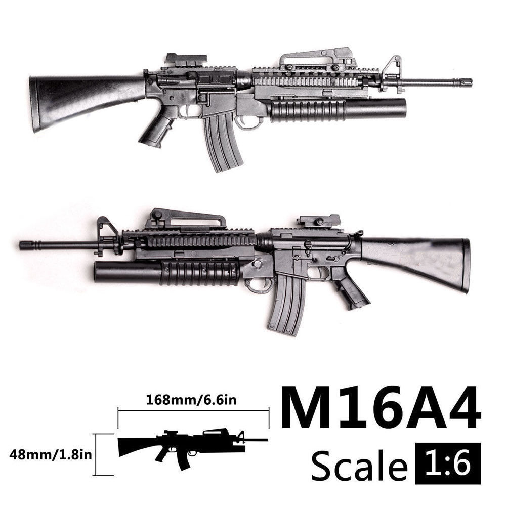 1:6 1/6 Scale M16A4 Assault/Automatic Rifle Launcher Gun Model Toys Action Figures Accessories Assembly Gun Gundam Model Toys