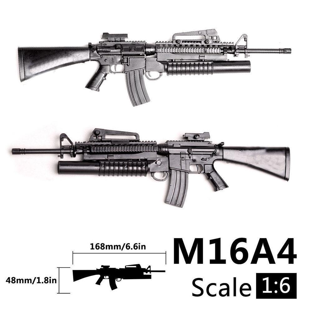 1:6 1/6 Scale M16A4 Assault/Automatic Rifle Launcher Gun Model Toys Action Figures Accessories Assembly Gun Gundam Model Toys
