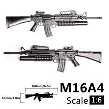 1:6 1/6 skala M16A4 Assault/automatyczny karabin Launcher Gun zabawki modele Action Figures akcesoria montaż Gun Gundam zabawki modele