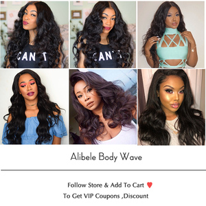 Image 5 - Alibele 13x4/4x4 Brazilian Body Wave Wig 150% Pre Plucked Lace Front Wig 4x4 Lace Closure Wig Body Wave Human Hair Wig For Women
