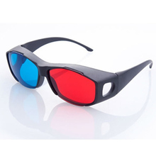Fashion Type Red Blue 3D Glasses  Anaglyph Framed  3D Vision Glasses for Game Stereo Movie Dimensional  Plastic Glasses