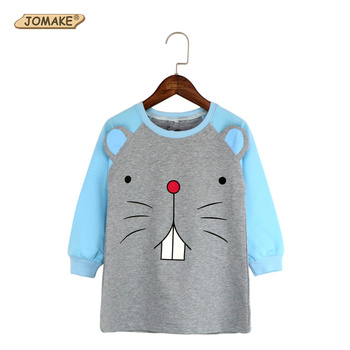 JOMAKE Girls T-shirt 2017 New Spring Brand Baby Girl Clothes Cute Cartoon Rabbit Infant Long T Shirts Children Clothing For 2-7Y