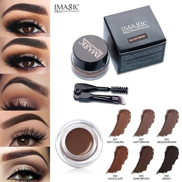 d37e46d15 Women Eye Brow Tint Cosmetics Eyebrow Enhancers Waterproof Long Lasting EyeBrow  Gel Cream Makeup Brush Pencil Gel Makeup