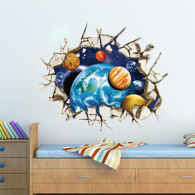 Aliexpress.com : Buy New Creative 3D Science Fiction Space Planet Home  Decoration Wall Stickers Living Room Child Room Wall Decals Ceiling  Wallpaper From ... Part 64