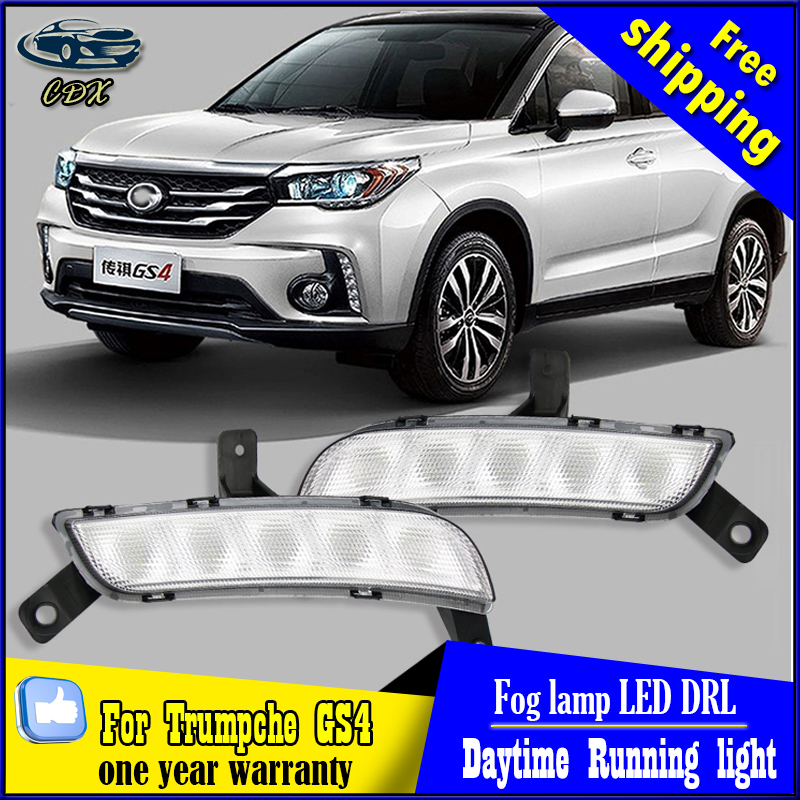 Free shipping!!For Trumpchi GS4 Daytime Running Light DRL Daylight Lamp with Turn Lights day time day running lights Lamps