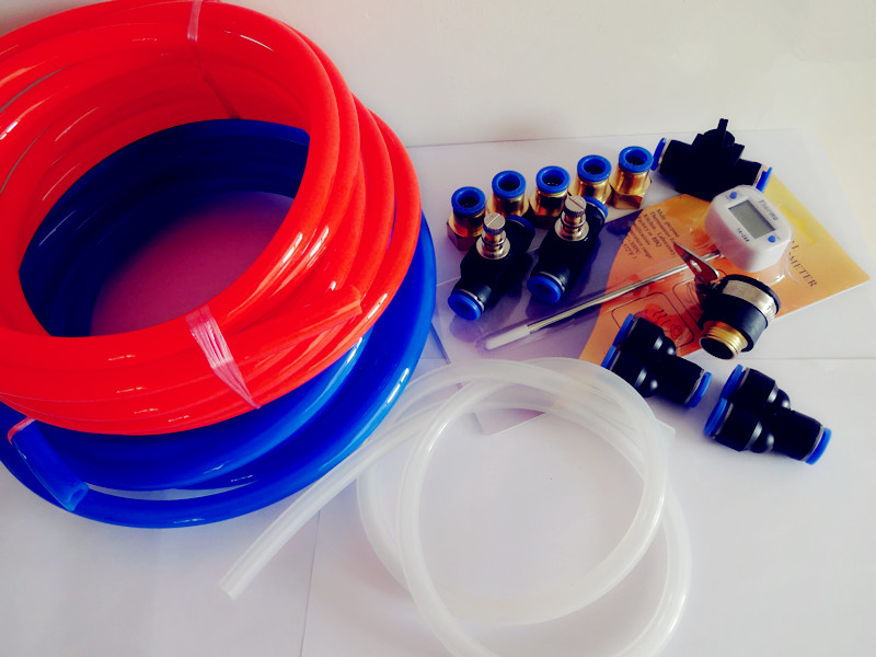 Free Shipping  New  Set Of Cooling Water System For Home Brewing,Pneumatic Parts And Hoses