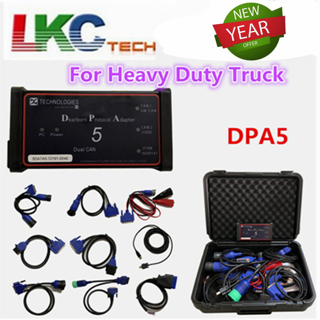 US $172 9 5% OFF|Newest DPA5 for Heavy Duty Truck Scanner Dearborn Protocol  Adapter 5 diagnostic tool DPA 5 better than NEXIQ DHL Free-in Code Readers