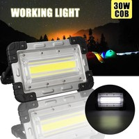 30W COB Rechargeable LED Flood Light Portable LED Flood Light Lamp Floodlight Handle Tents Lamp Outdoor Camping Hiking Lighting