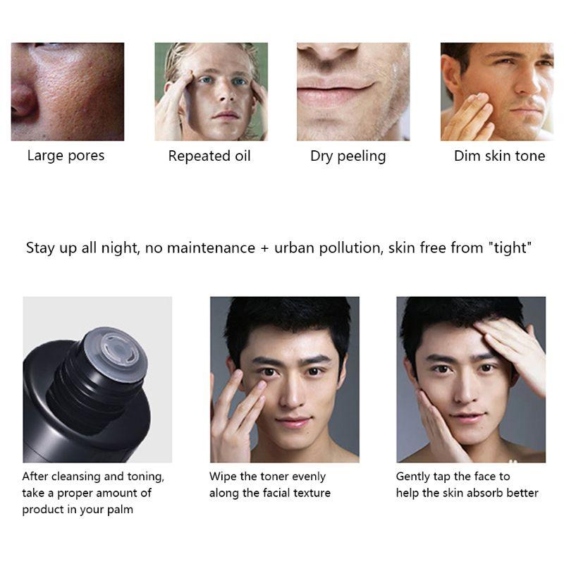 100ML Men Balancing Toner Facial Face Whitening Moisturizer