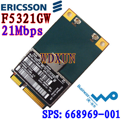 Hs2350 Ericsson F5321GW HSPA + 3G UMTS WWAN A-GPS MiniPCIe Modul NEU H4X00AA 668969-001
