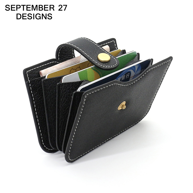 Credit Card Wallet genuine leather bank card holders women mini wallets credit coin purse card slot lady small Credit Card Case