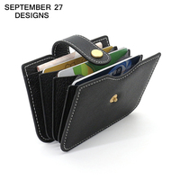 Credit Card Wallet Genuine Leather Bank Card Holders Women Mini Wallets Credit Coin Purse Card Slot