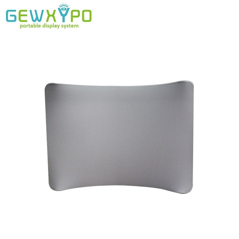 Mur d'affichage facile de bannière de tissu de couleur blanche ou noire incurvée par 10ft * 7.5ft, toile de fond portative de publicité de cabine de Photo