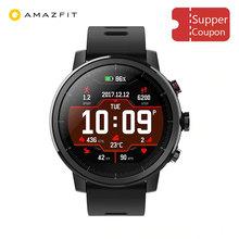 Xiaomi Amazfit Stratos 2 smart watch Pace 2 z GPS Monitor pracy serca 50 metrów wodoodporny huami oryginalny smartwatch tanie tanio Noctilucent Passometer Czas światowy Nastrój tracker Uśpienia tracker Fazy Księżyca Kalendarz Wybierania połączeń