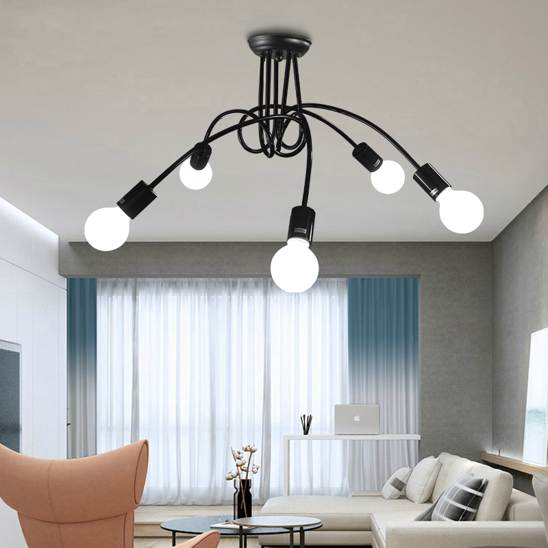 Chandeliers Modern Led Luminaires Wooden Chandelier Loft Lighting Novelty Fixtures Nordic Hanging Lights Living Room Pendant Lamps Lights & Lighting