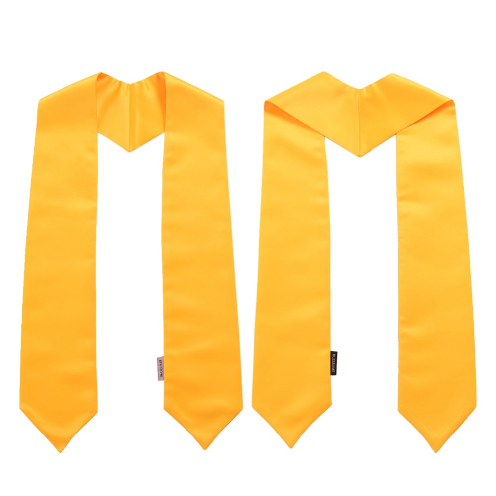 """Image 5 - 1pc Graduation Stole Unisex Adult Plain Students Long Stole 58""""-in Women's Scarves from Apparel Accessories"""