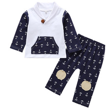Fashion 2PCS Toddler Kids Baby Boy Clothes Long Sleeve Lapel Cotton Tops+Long Pant Trouser Outfits Children Casual Clothing Set