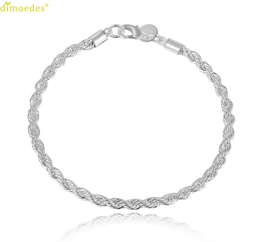 Diomedes Newest 1PC New Women Silver Plated Cuff Charm Chain Bracelet Jewelry Charm Leather Casual Bracelet #0223