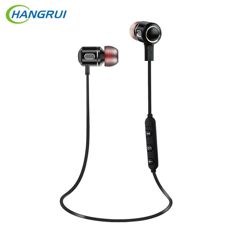 HANGRUI Wireless Bluetooth Earphone Sport Running Headphones with mic Running wireless earphones HiFi Bass Headsets for Phone magnetic switch earphones sports running wireless earbuds bass bluetooth headsets in ear with mic for running fitness exercise