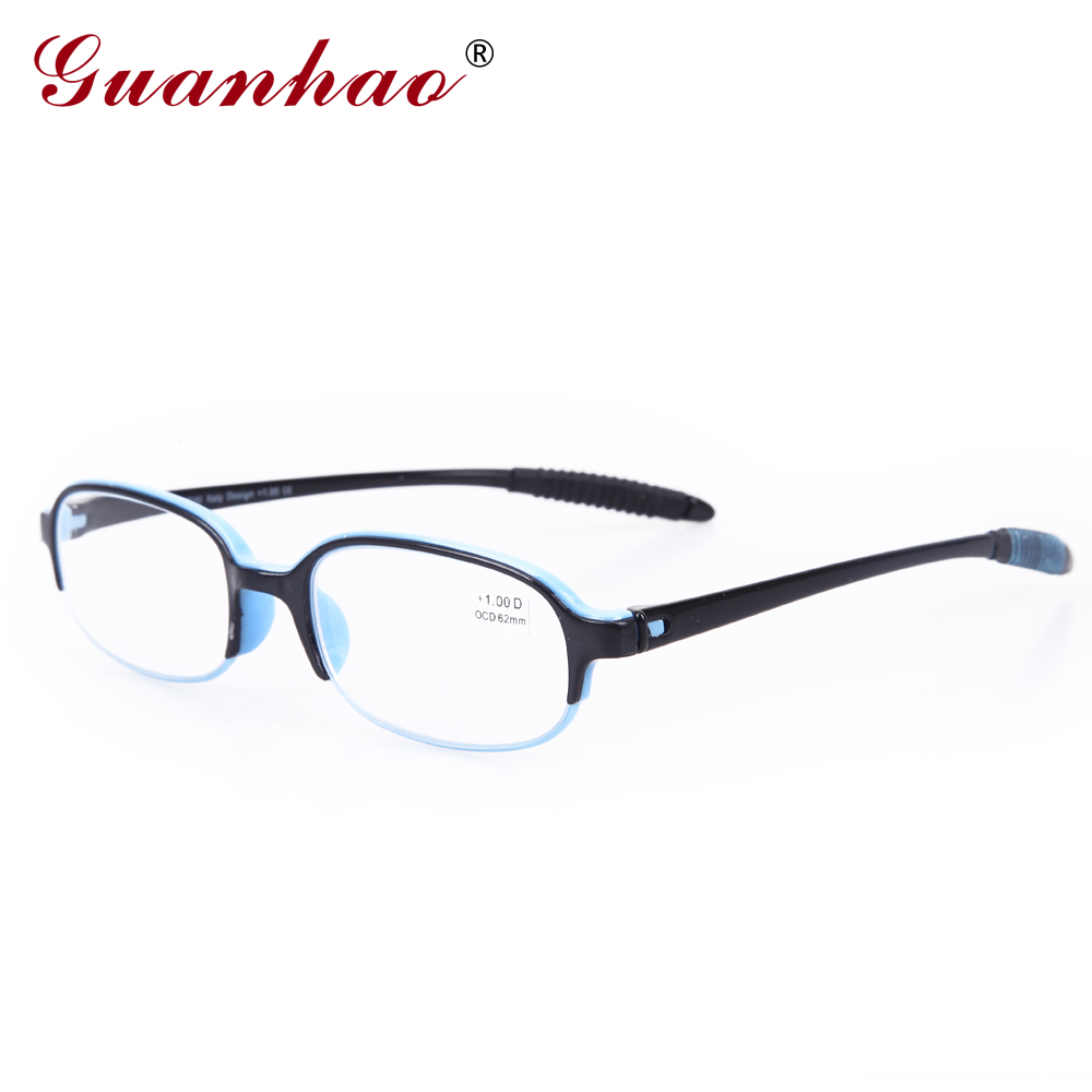 Guanhao Ultralight Transparent Reading Glasses Menn Kvinner Optisk Resin Glasses For Sight Presbyopia Eyeglasses 1.0 1.5