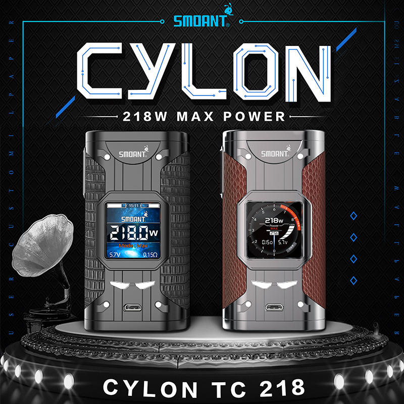 Original Smoant Cylon 218w Mod TC Variable Wattage Electronic Cigarette 510 Thread Vape Mod Vaporizer Atomizer vs smoant charon ruru15070 to 218