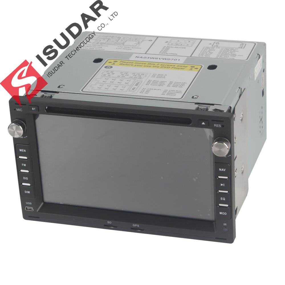 Lecteur multimédia de voiture Isudar GPS 2 Din 7 pouces pour VW/Volkswagen/PASSAT/B5/MK5/GOLF/POLO/TRANSPORTER Radio fm BT 1080P carte Ipod - 3