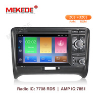 2 DIN 2G Android 9.1 CAR GSP RADIO For Audi TT MK2 8J 2006 2007 2008 2009 2010 2011 2012 multimedia DVD player stereo navigation