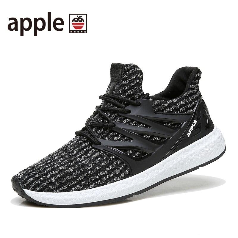 2017 APPLE été nouveauté respirant maille 3D mouche à tricoter hommes Ultra boost chaussures de course souple Flexible hommes baskets AP8001