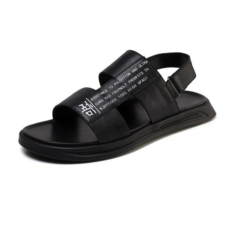 Romanos Verano Zapatos De Calidad Genuina Para Marca Playa Masculinas Sandalias Black Casual Cuero white Transpirable Hombres Suave Los Caminar Blanco CaTn5qw