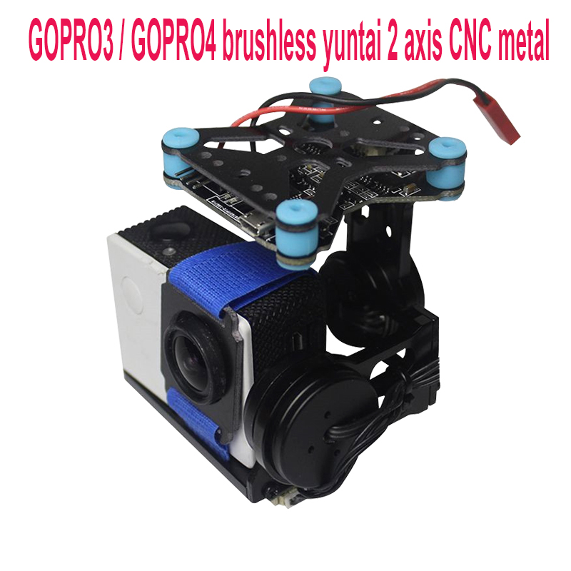 MINI Lightweight 2 Axis Brushless Gimbal Board with Sensor Free Debug for SJ4000 Gopro3 4
