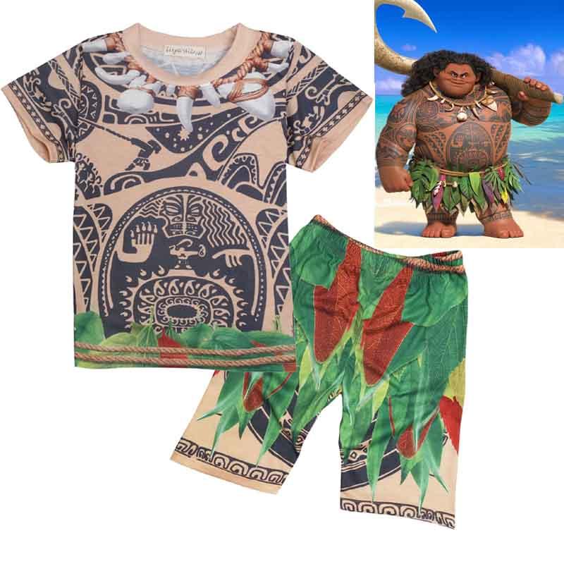 Sommer Kinder Kleidung Set Baby Moana Maui T-shirts Sport Anzug für ...