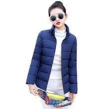 Winter Coat Women 2019 New Autumn Korean Fashion Short Slim Jacket Black White Khaki Wine Red L-5XL Plus Size Zipper Parka CX941 цена 2017