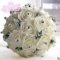 6 цвет розы Фиолетовый Розовый Красный Цвет Люкс Для Невесты свадебный букет искусственный цветок розы кристалл свадебные букеты
