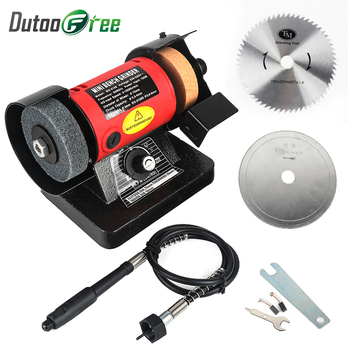 1 Set Mini Table Saw Bench Versatility Grinder 2PCS Saw blade With Flexible Shaft Polishing Cutting Grinder Machines Power Tool bench grinder stavr sze 200 450 p