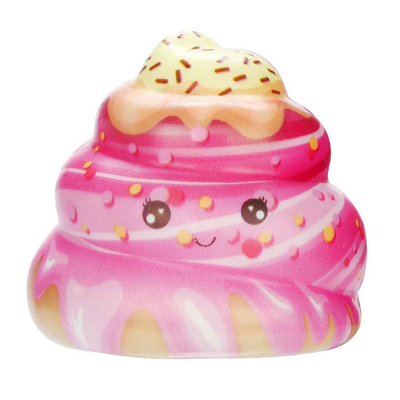 цены kawaii Anti-stress Cute Squishy Kawaii Cream Cake Poo Slow Rising Cream Scented Stress Relief Toys Poo Tooth Cake Cream Toy #50