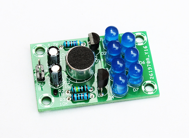 diy electronic kit set Voice activated melody light Fun welding practice E learning production training parts