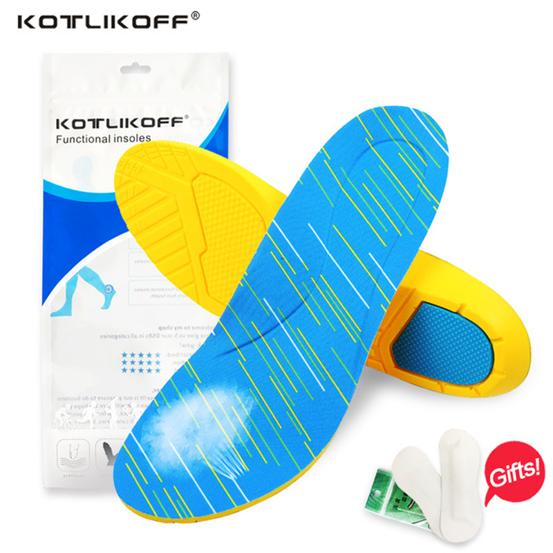 KOTLIKOFF Premium Athletes Sport Insoles Gel Heel Forefoot Absorbs Shock Arch Support Extreme Comfort Antimicrobial Reduces Odor antimicrobial