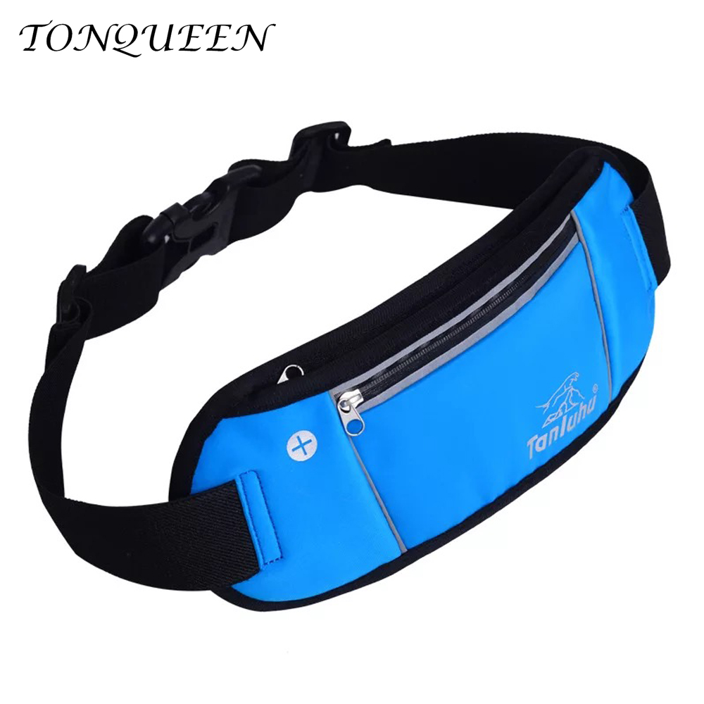 Soft Running Waist Bag Waterproof Nylon Running Belt Phone Bag For Walking Cycling Bags For Sport With Earphone Hold WX105