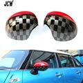 2PCS/Set Car Styling MINI Side Mirror Covers Caps Set JCW Design Fit For MINI Cooper F56 Hardtop F55 F54 Clubman 2016 F57