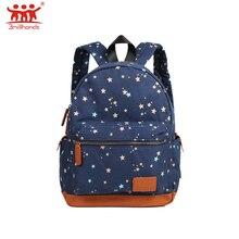 Ограниченная серия 3 millhands холст рюкзаки Звездные цветочные двойной ремень pu лоскутные Мульти Кармана Рюкзак