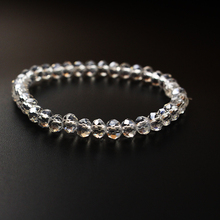 CHENFAN 6mm stone Bracelet Crystal Faced Abacus Bead Stretch Fashion Woman Men Jewelry for Women