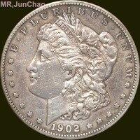Hoa Kỳ 1902 90% Bạc Morgan One Dollar Đồng Tiền Sao Có Thể Lựa Chọn Nhiều Loại để Hãy Old Phong Cách