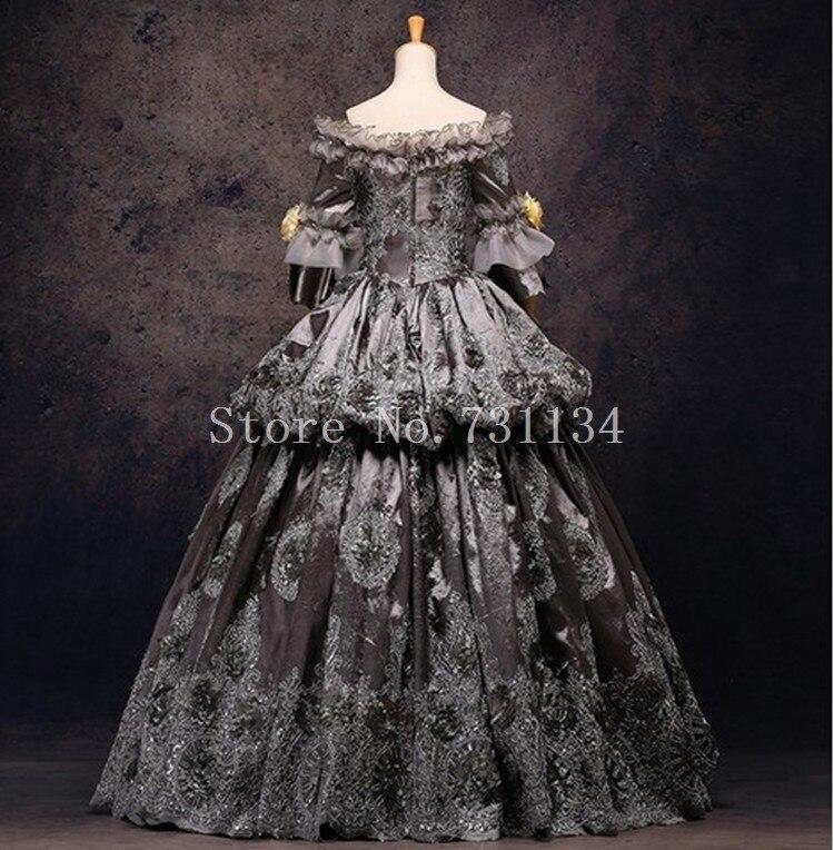 High end Vintage Grey 18th Century Rococo Baroque Marie Antoinette ...