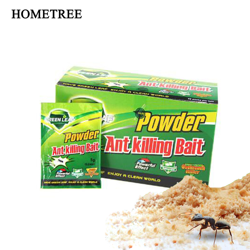 HOMETREE 5Pcs Strong Ant Bait Agent Ant Medicine Kill Ant Clear Family Kill Red Yellow White Black Eliminate Black Beetle H53