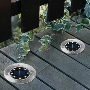 Buried-Light Under-Ground-Lamp Solar-Power Garden Outdoor Path-Way LED Yard Lawn 8-Led-4