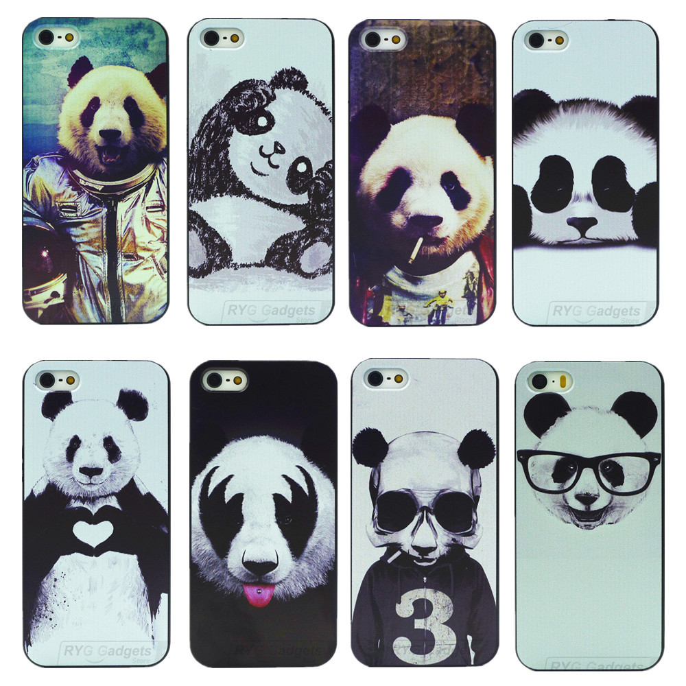 newest 15085 0d6f7 For iPhone 5s SE Case 8 Kinds of Styles Super Cute Panda Cover For ...