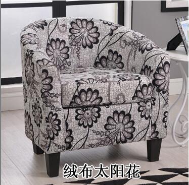 Европейский тканевая одноместная Софа стул интернет кафе кофе небольшой диван гостиничная комната кабинет компьютерный диван стул - Цвет: VIP 15