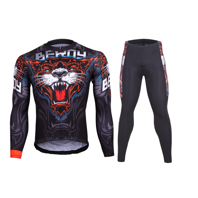 2017 Tiger Head new mens cycling wear jersey sets brand team cycling clothing fitness mountain road bike clothing set