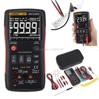 Q1 True RMS Digital Multimeter Auto Button 9999 Counts Analog Bar Graph AC/DC Voltage Ammeter Current Ohm Transistor Tester XJ36
